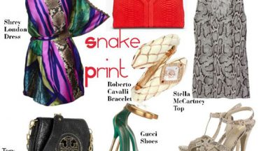 It's hot now: snake print!