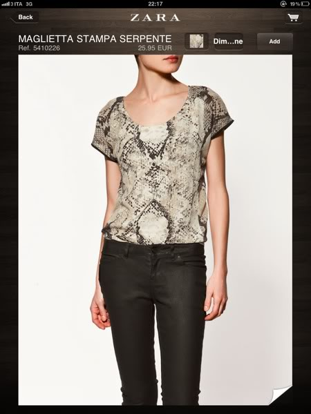 zara-maglietta stampa serpente