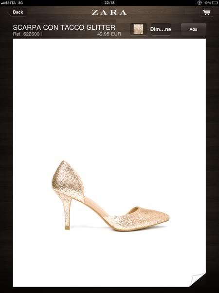 zara-scarpa con tacco glitter