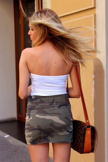 Camouflage Skirt L OS_AFn