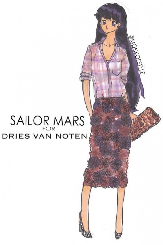 sailor mars for dries van noten