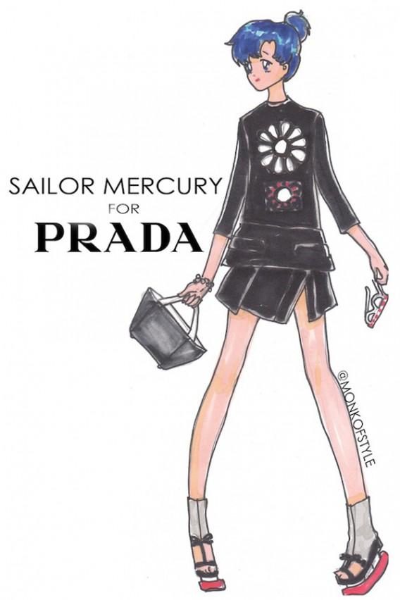 sailor mercury for prada