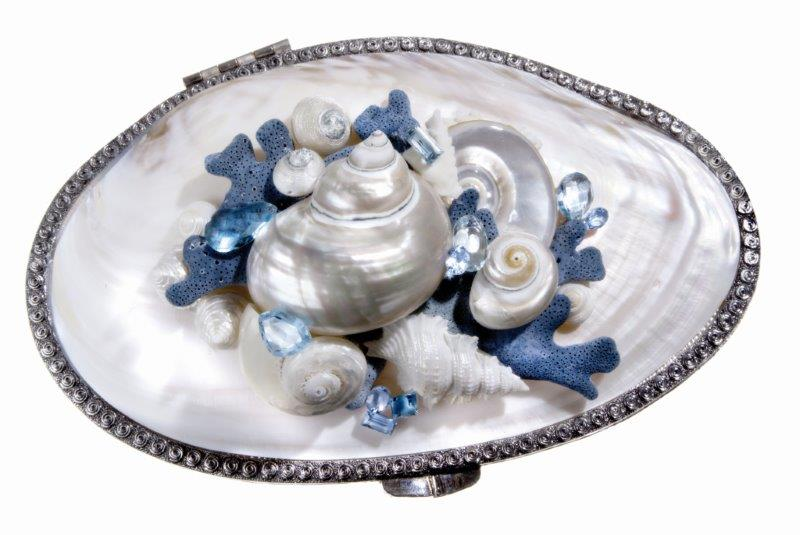Shell Bag Blu L Preziosa