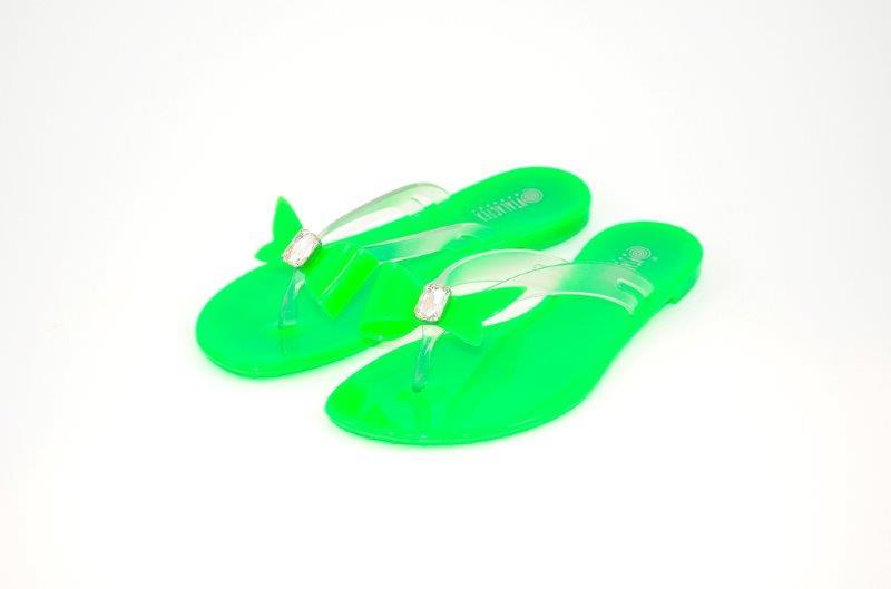 Vialactea pe 13 bea-verde fluo Fiocco PVC con castone e pietra__55euro