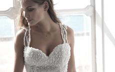 abito perle sposa