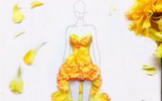 fashion illustrations flower petals grace ciao