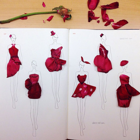 fashion-illustrations-flower-petals-grace-ciao-7