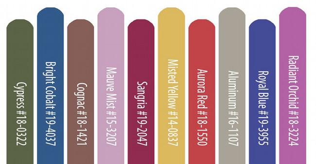 i colori autunno inverno 2014 2015 secondo Pantone