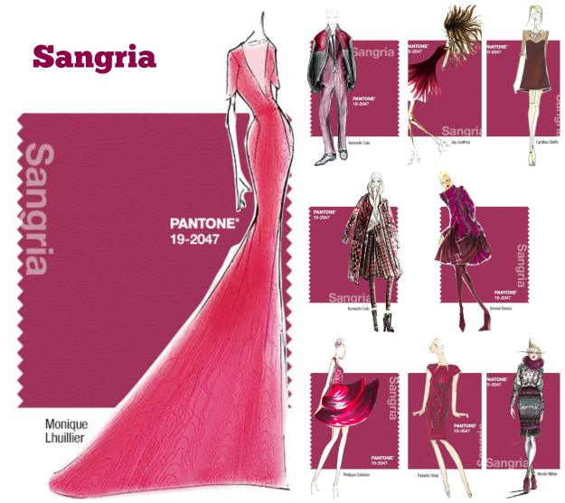 pantone color sangria