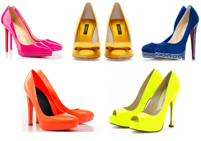 abbinare le scarpe colorate
