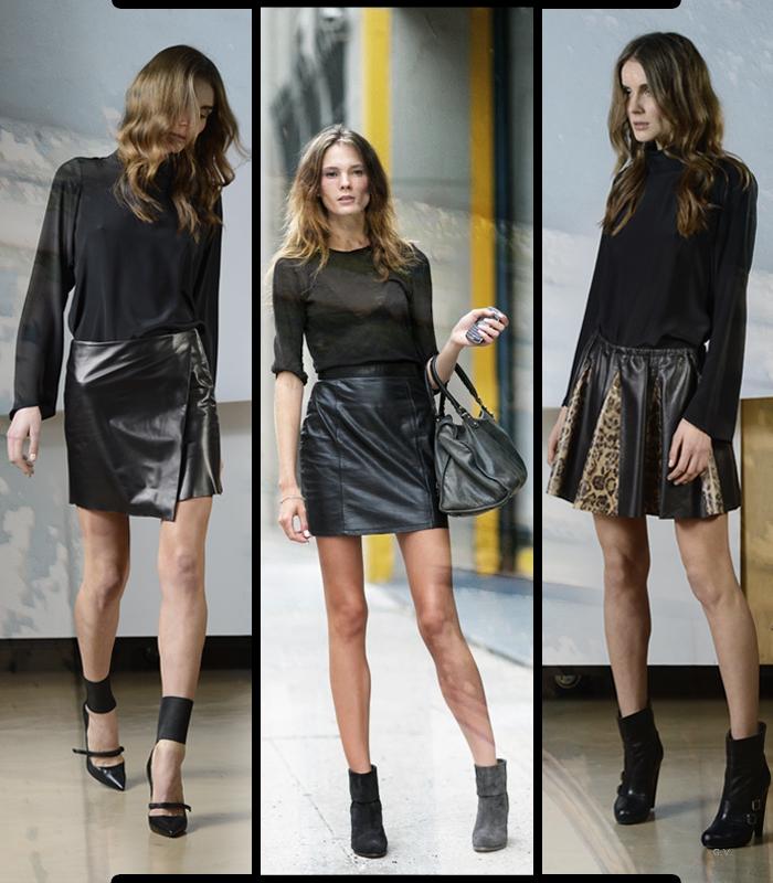 hot sale online bd3dd 68486 La gonna di pelle: consigli e idee per indossarla