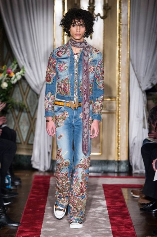 completo-denim-colorato-roberto-cavalli