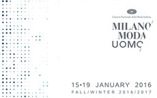 Fashion Week Uomo Milano 2016