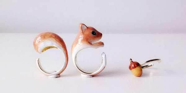 anelli a forma di animale