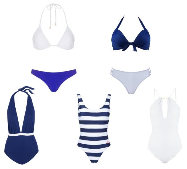 estate in bianco e blu